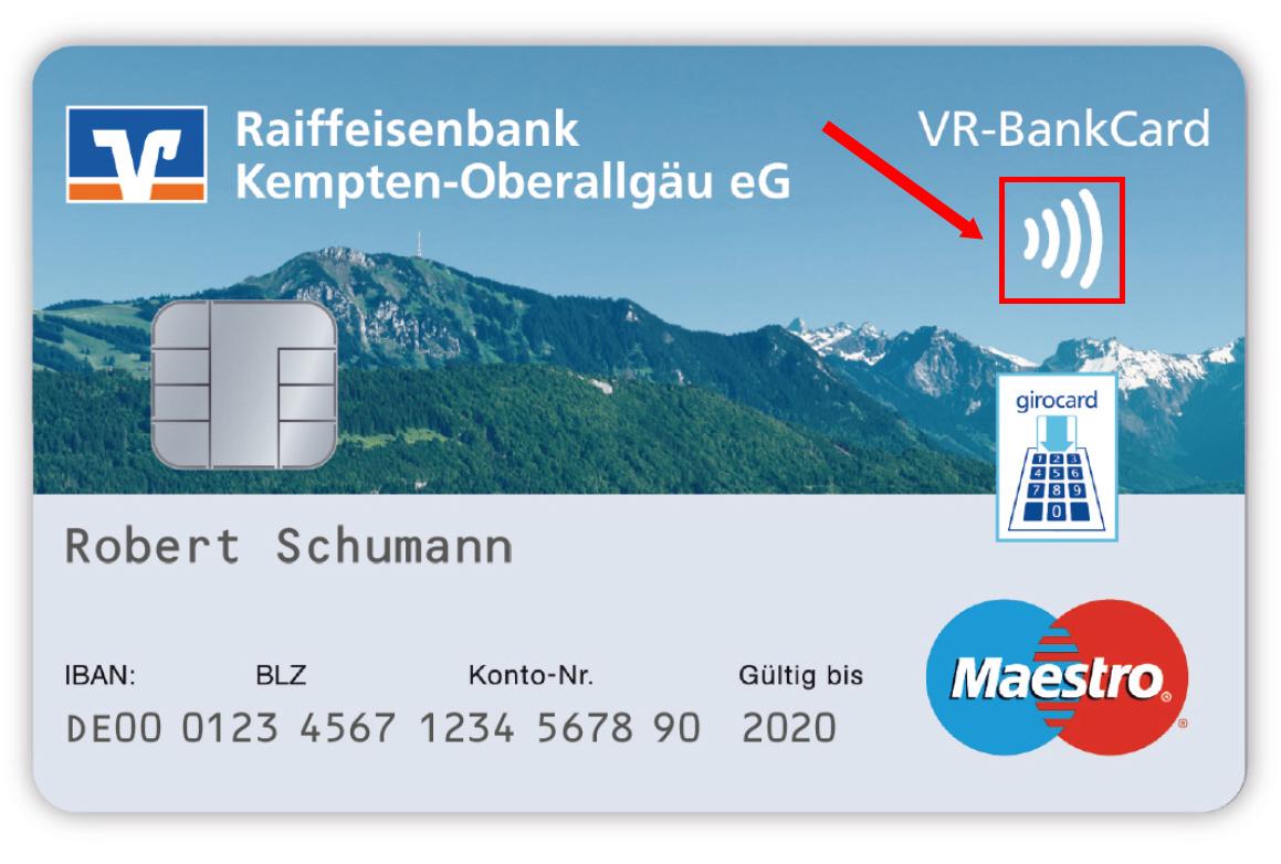 Raiffeisenbank Karte Sperren.Girocard Raiffeisenbank Kempten Oberallgäu Eg