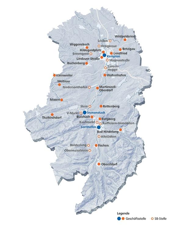 Geschaftsstellen Raiffeisenbank Kempten Oberallgau Eg